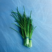 Bunches of chives (seen from above)