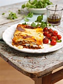 Lasagne with oven roasted tomatoes