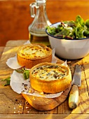 Two spicy mini quiches