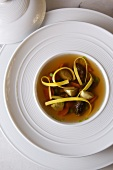 Chicken Consomme with Pasta and Vegetables