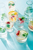 Lemonade with fruits and mint