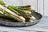 A bunch of asparagus in a bowl
