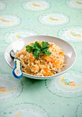 Risotto with squash and chicken