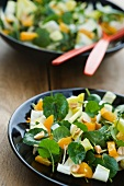 Chicory salad with lesser celandine and orange
