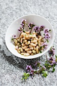 A white bean salad with thyme
