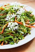 Ramson buds with ginger and carrots