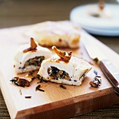 Chicken breast stuffed with wild rice and mushrooms (Canada)