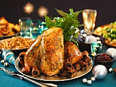 Traditional Christmas roast turkey