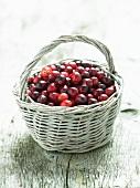 A basket of cranberries