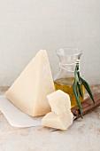 Grana Padano and olive oil