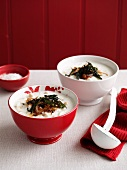 Yogurt and chickpea soup