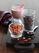 Cacao Nibs and Goji Berries with Smoothie