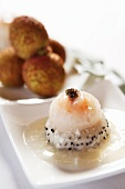 Lychee shrimp with caviar