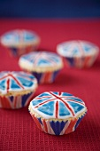 Union Jack cupcakes (Great Britain)
