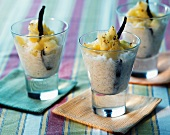 Rice pudding with pineapple
