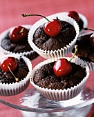 Moilleux au Chocolat with cherries