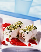 Iced white nougat with pistachios