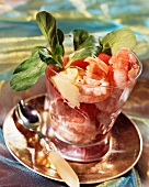 Scampi with citrus fruits