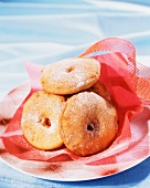 Apple doughnuts with cinnamon