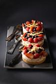 Cream cheese berry tart