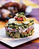 Avocado and crab tartar