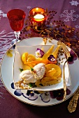 Monkfish fillets with vegetables for Christmas dinner