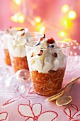 Tomato cream with crab meat for Christmas dinner
