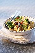 Orecchiette pasta with broccoli and anchovies