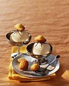 Masala ice cream and madeleines