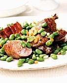 Confit with fava beans