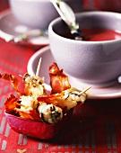 Oyster tempura with bacon