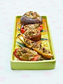 Stuffed oven-roasted vegetables