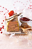 Spiced goose liver terrine for Christmas dinner