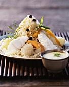 Sauerkraut with fish