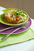 Crab pie with courgette