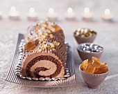 A chocolate and Bergamot Swiss roll
