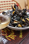 Mussels in a cream and white wine sauce