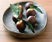 Chocolate-covered kumquats