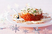 A scallop and tomato tartlet
