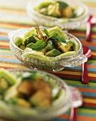 Kiwi and avocado salad with mint