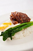 Roast goose with rice