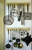 Hanging kitchen utensils
