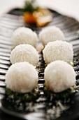 Shredded coconut rice bal