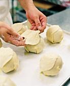 Making Organic Peach Dumplings