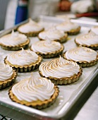 Mini Lemon Meringue Pies on a Sheet Pan