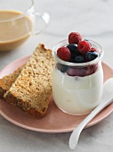 Greek Yogurt with Berries and Whole Grain Toast
