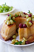 Vanilla and grape cake