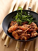 Stir-fry crab with chilli and ginger