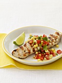 Grilled Chicken with Tomato Corn Salsa