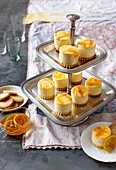 Miniature lemon curd cheesecakes with shortbread bases